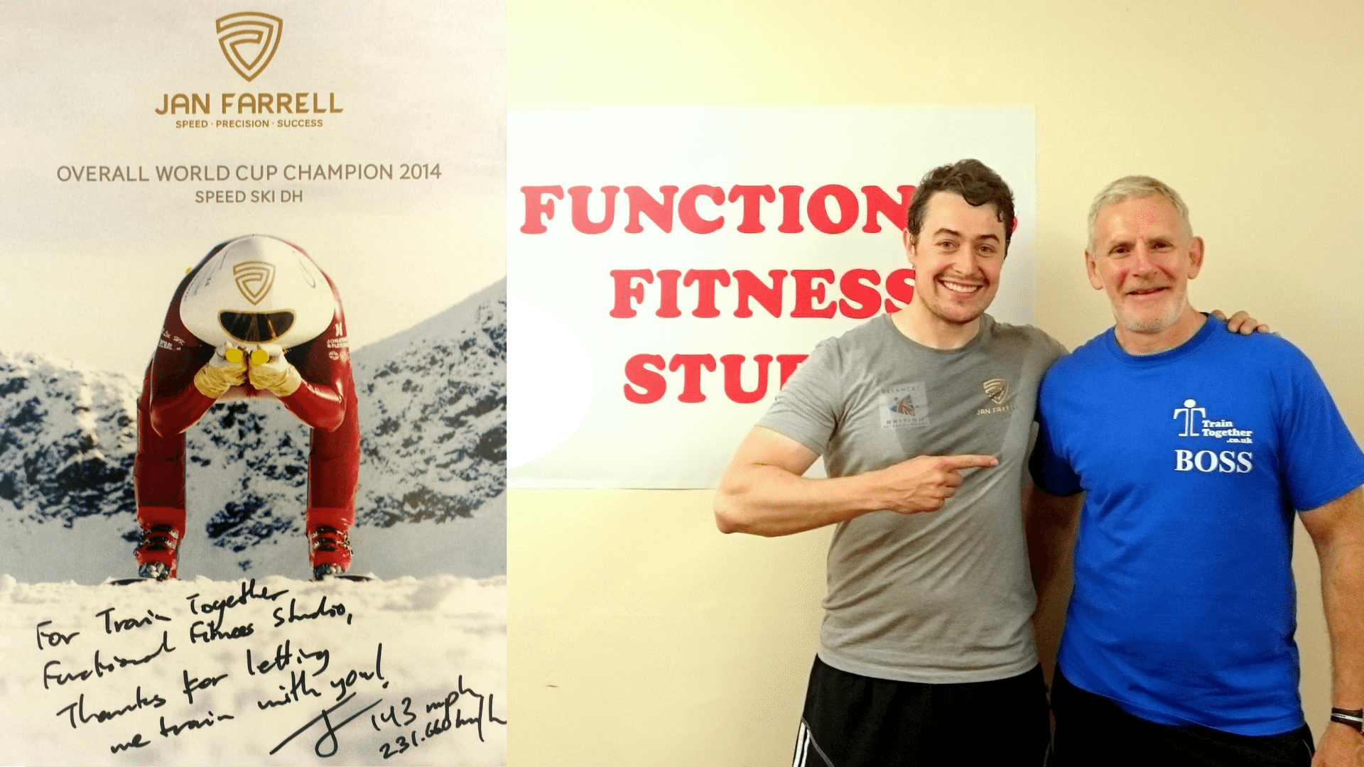 Jan Farrell, Speed Skiing Champion, Joins Train Together!